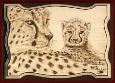 "Cheetah Big Cat ACEO Ltd Ed Print ""Motherly Love"""
