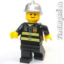 M004B Lego Fire Brigade Fireman Minifigure 10197 NEW