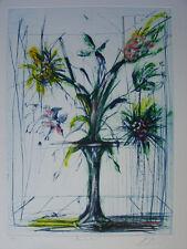 GUINY Jean-Marie - Gravure signée numérotée fleur de mai