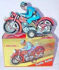 Nekur Turkey POLICE MOTORCYCLE Tin Friction Ne-Kur Trafik Polici MIB`70 RARE!