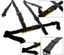 1 BLACK 4 POINT RACING SEAT BELT HARNESS ALL SUBARU NEW