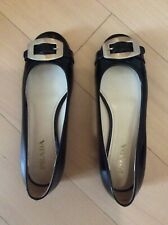 *EUC* Authentic Prada Flats Size 37 Black Patent Leather