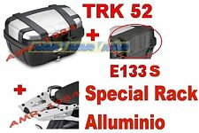 TRIUMPH TIGER 1200 VALIGIA BAULE TRK52N + TELAIO SRA6403 ALLUMINIO + SPALLIERA