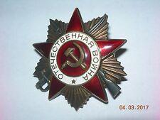UdSSR Orden Großer Vaterländischer Krieg 1. Kl Super ! Silber