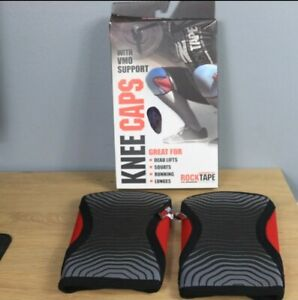 Rocktape Knee Caps Red 2pcs Knee Sleeve Compression Support For Sport Size XS