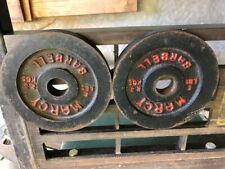 "Marcy Iron Barbell Weight Plates 2-5 lb (10 lbs total) 1"" hole"