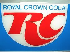 "VINTAGE ROYAL CROWN COLA RC VENDING MACHINE SIGN PLEXIGLASS 22¼"" X 10 3/8"""