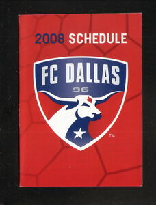 FC Dallas--2008 Pocket Schedule--Pizza Hut--MLS