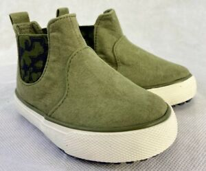Cat & Jack Olive Green Anton Pull On Casual Shoes Sneakers Boots sizes 5 7 8 9