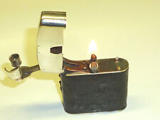 BENEY VINTAGE UNUSUAL LIGHTER W. LEATHER COAT - 1926 -MADE IN ENGLAND -VERY RARE