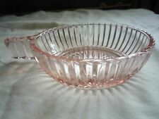 Vintage Anchor Hocking Queen Mary Pink Depression Glass Bowl