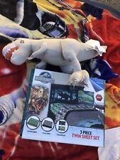 Jurassic Park Twin Bedding Sheets And Dino Grey Rex Plush
