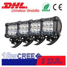4x18W Cree Lampe à LED Lumière phare de Travail 12V 24V Moto 4X4 SUV Minier Feux