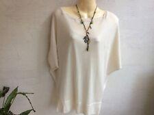 Elie Tahari cashmere/silk ivory sweater size M