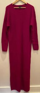 Hatch Maternity Mama 100% Merino Wool LS Dress  Size 3 (L) CHIC Modern Pink