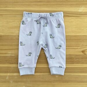 NWOT JANIE AND JACK Purple Kitty Cat Lounge Pants Size 0-3 Months