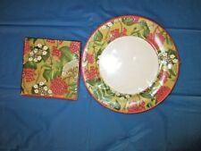 Caspari Paper 8 Dinner Plates and 20 Napkins Royal Horticultural Society Flowers