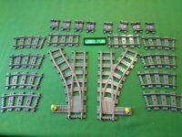 LEGO® 9V RC Weichen Schienen Eisenbahn/Tracks Train(7896 60205 7499 7895 60238)1