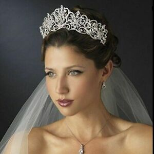 Crystal And Rhinestones Baroque Crowns Tiaras Pageant Wedding Hair Accessories