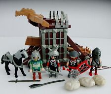 Playmobil 4837 Giant catapulte avec cellule & 4 Knight figures