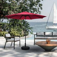 3m Round Garden Parasol Umbrella Sun Shade Outdoor Patio Beach Crank Tilt Grey