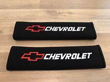 1Pair Car Seat Belt Cover Pads Gift Logo Chevrolet Tacuma Trax Camaro Lacetti GT