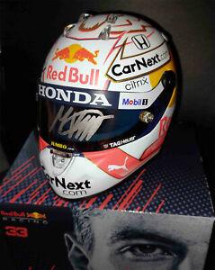 2021 F1 Max Verstappen signed Red Bull mini helmet 1/2 scale Formula 1