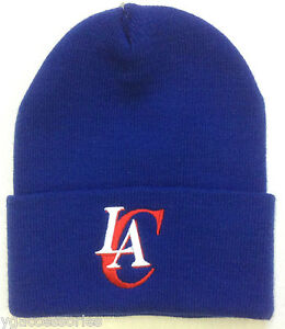 NWT NBA Los Angeles Clippers Reebok Cuffed Winter Knit Hat Cap Beanie NEW!