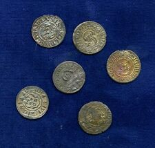 POLAND / SWEDEN / LITHUANIA  17TH CENTURY SILVER SCHILLING COINS, LOT OF (6)