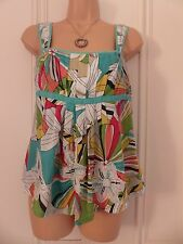 Pretty size 8 vest/camisole top Per Una, multicoloured, lined, floral pattern