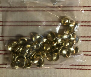 "Brass Plated Split Rivet CAP: 3/8"" diam, Lot of 50"