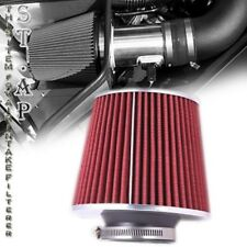 """Universal 4"""" Inch Jdm Short Ram/Turbo/Cold Air Flow Intake Filter Red Chrome"""