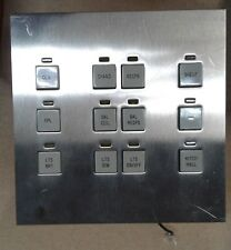LiteTouch Savant 12 Button Control Station, Assembly, Steel Wall Switch Plate
