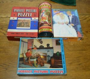 Vntg PUZZLES (4): Perfect Picture Puzzles (2)  Johnny Appleseed & Barbie