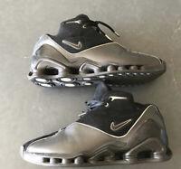 NIKE SHOX VC 2 Black Metallic Silver Basketball Sneakers Shoes Size 13.5