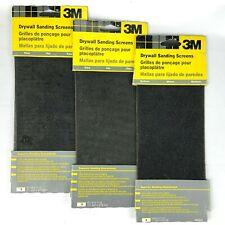 "3M Brand 6-Count Drywall Sanding Screens Fine & Medium Grit 4 3/16"" x 11 1/4"""