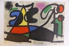 Joan Miro (1893-1983) Composition Pour Derrière le Miroir 1970 Lithographie