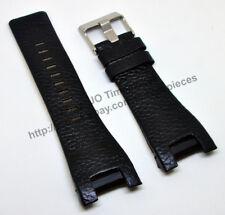 Comp. Diesel DZ1215 DZ1430 DZ1453 DZ4287 - 32mm Black Leather Watch Strap Band