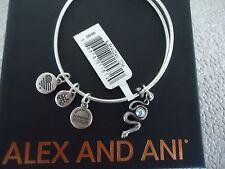 Alex and Ani SNAKE WITH CRYSTAL Rafaelian Silver Charm Bangle New W/ Tag & Box