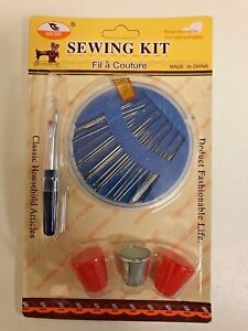 SEWING NEEDLE THIMBLE THREAD CUTTER SELF THREADING CURVED SEWING NEEDLE SET UK S