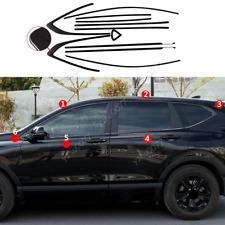 2017-2020 For Honda CR-V Black Stainless Side Window Molding Cover Trim 12pcs