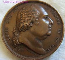 MED7954 - MEDAILLE LOUIS XVIII ROI DE FRANCE ET DE NAVARRE