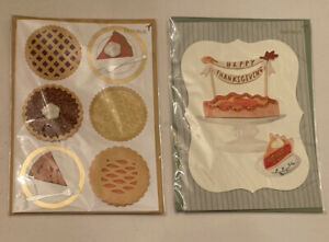 Papyrus Thanksgiving Day Greeting Cards - Assorted   Lot Of 2