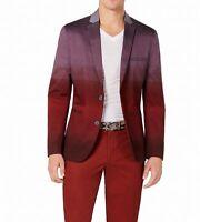INC Mens Sport Coat Red Size 3XL Big & Tall Dip Dye Colorblock Slim Fit $129 051