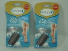 Amope Pedi Perfect Refill 4 Regular Coarse Roller Head Replacements NEW