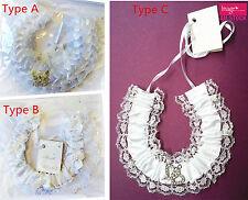 1pc Wedding Horseshoe Bridal Charm White Frilly Lace Gem Charm Horse Shoe BBH07