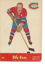1955-56 - PARKHURST HOCKEY CARD - NO. 66 - BILLY REAY - CANADIENS - OTG