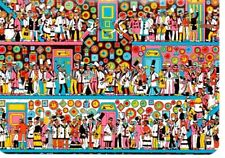 "Where's Wally? novelty postcard. ""The Corridoors Of Time"""