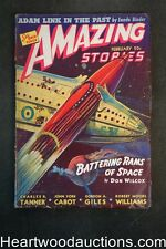 Amazing Stories Feb 1941 Frank R. Paul BC, Eando Binder