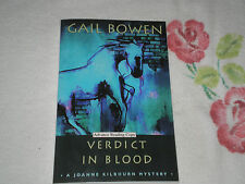 VERDICT IN BLOOD by GAIL BOWEN    -ARC- -SIGNED-  JA